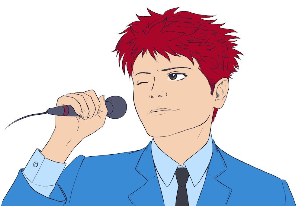 Gerard Way Inked and Colored by Crespella via ArtCorgi