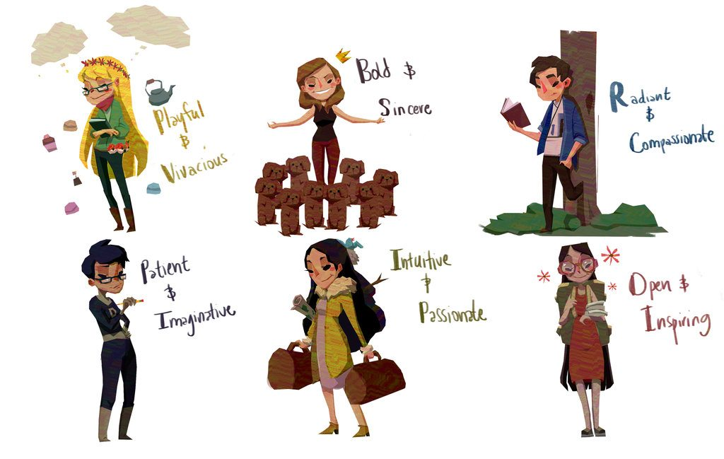 Simple Cartoon People by Mourphine
