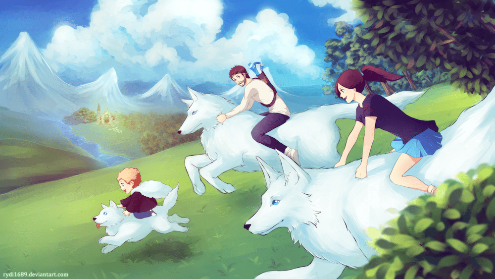 The Wolf Family by Lucia Garcia via ArtCorgi
