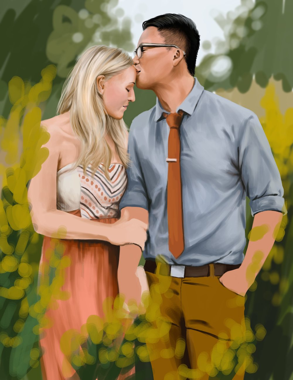 WIP Portrait of a Couple by Shobey1kanoby