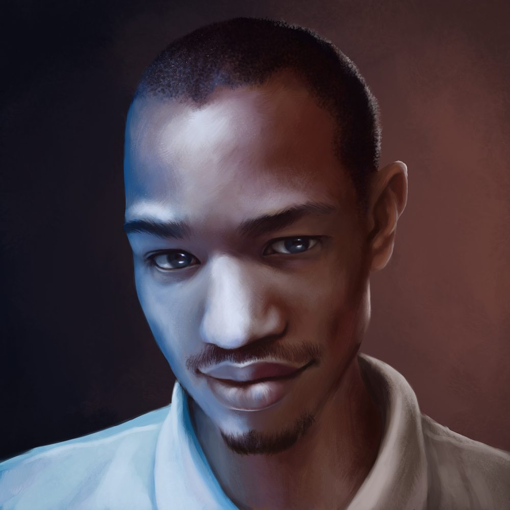 Digitally Painted Portrait of Daniel by Shobey1kanoby via ArtCorgi