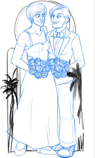 Draft Portrait of a Married Couple in Maui