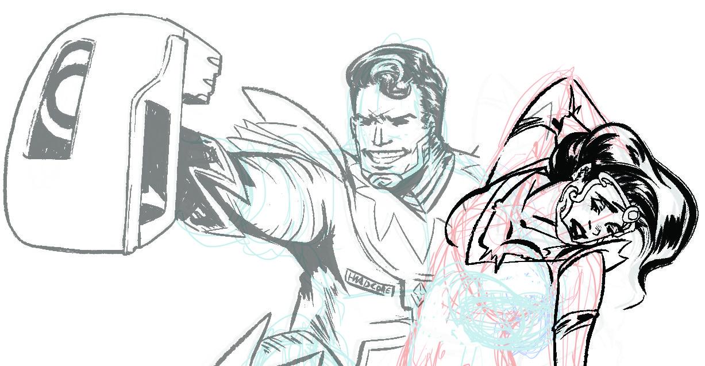 Sci Fi Cover Art Sketch Joke by Omniopticon