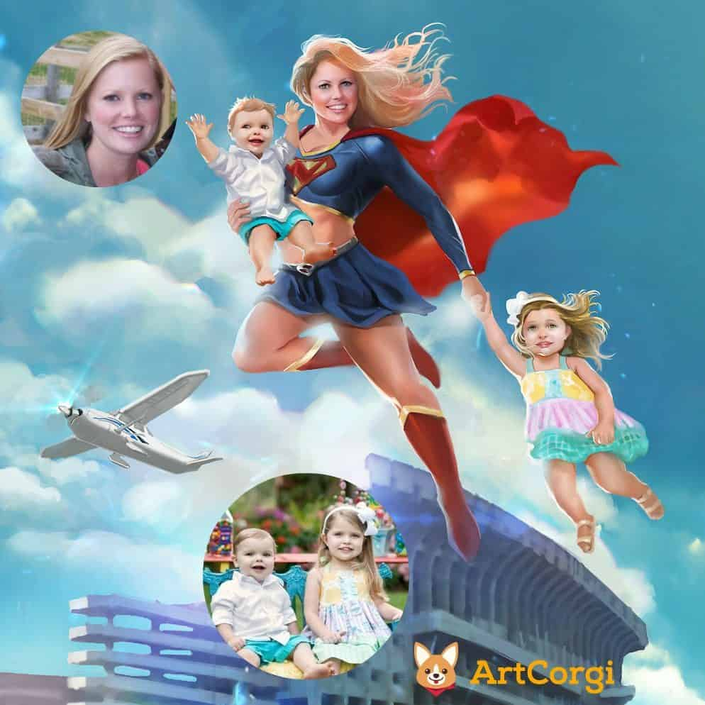 Super Mom by Bloodyman88 Before and After via ArtCorgi