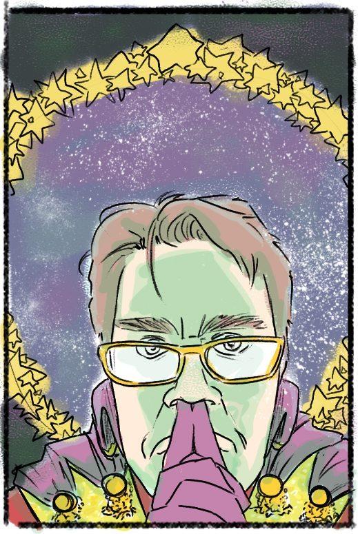 WIP Author Portrait by Omniopticon