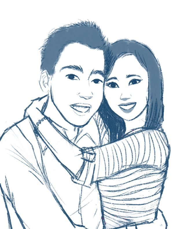 WIP Portrait of a Charming Couple by Sumi
