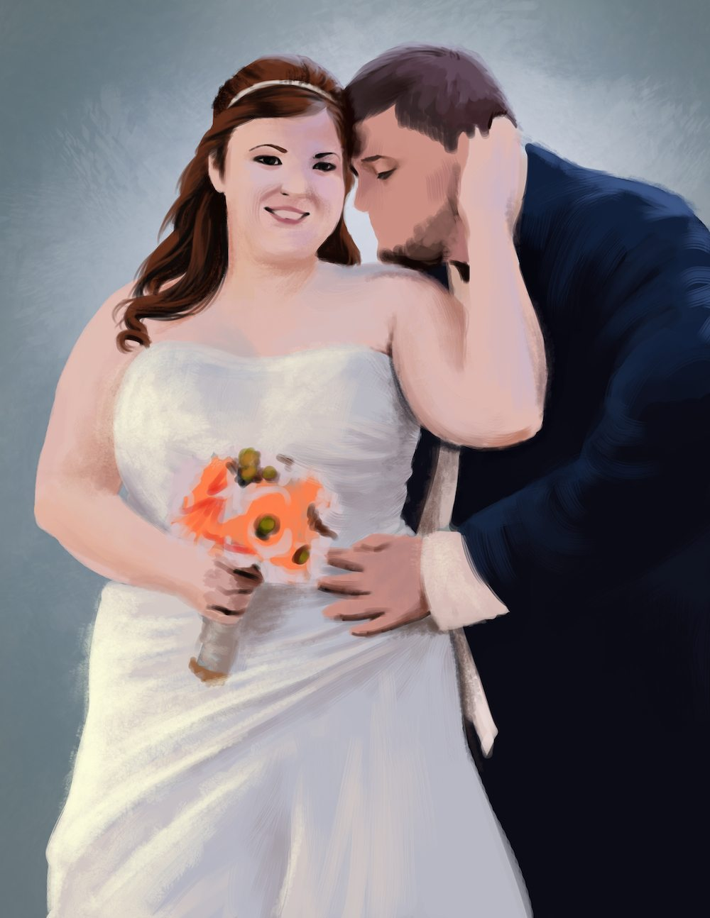 Wedding Portrait Draft by Shobey1kanoby
