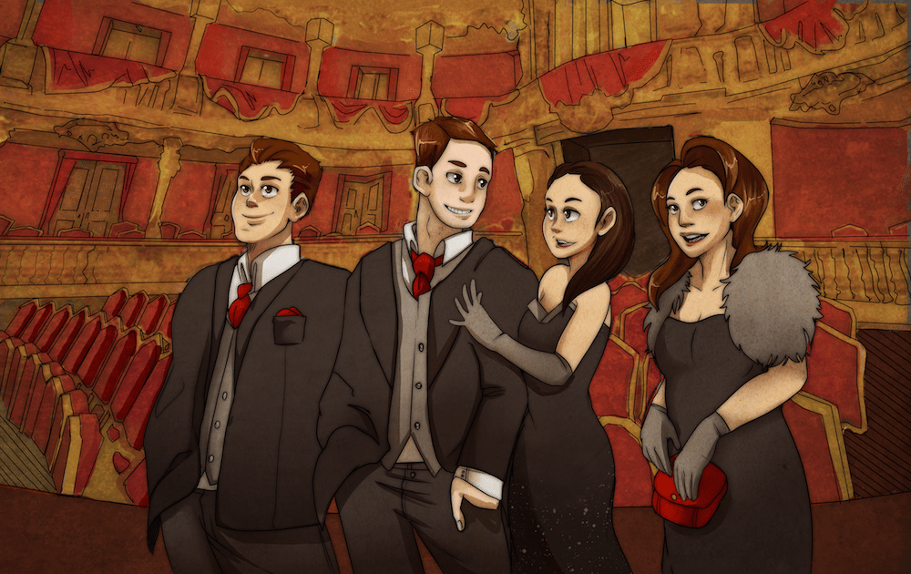 A Night at the Munich Opera House by AruRmz via ArtCorgi