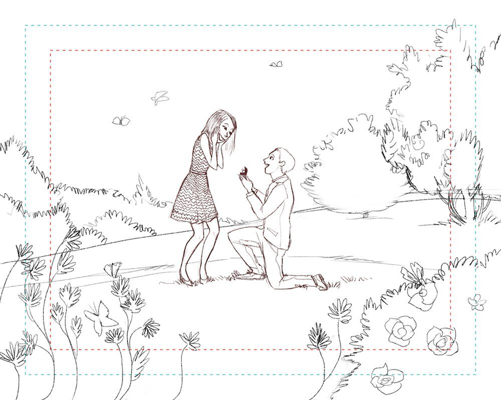 Draft Illustration of a Marriage Proposal by Sumi