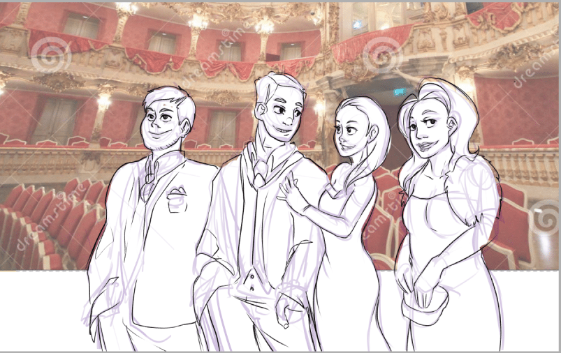 Draft of a Night at the Opera by AruRmz