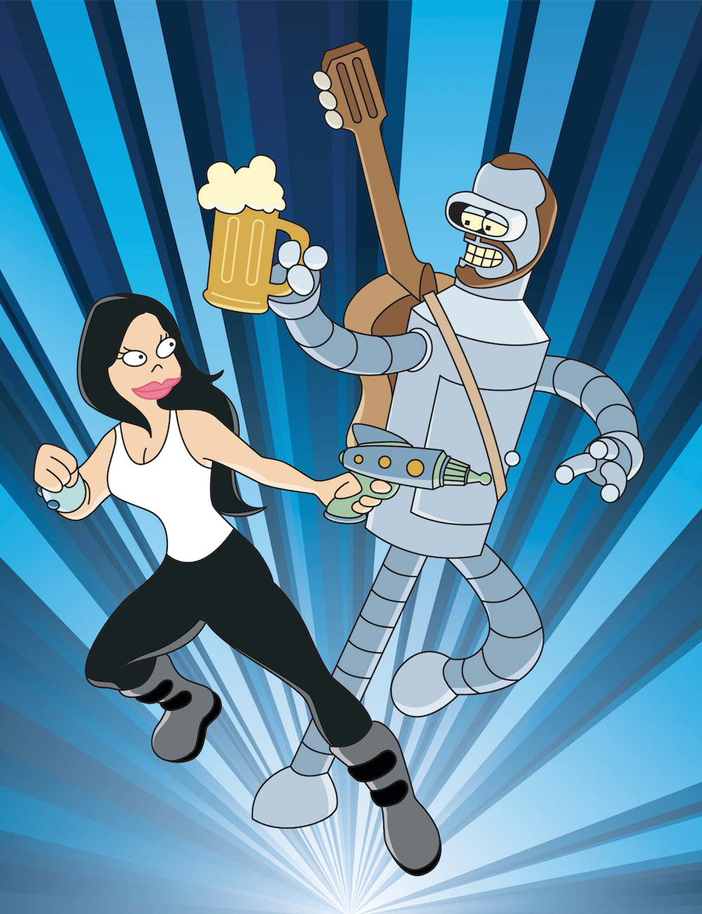 Futurama Inspired Dianne and Taylor by ArtOfRam via ArtCorgi