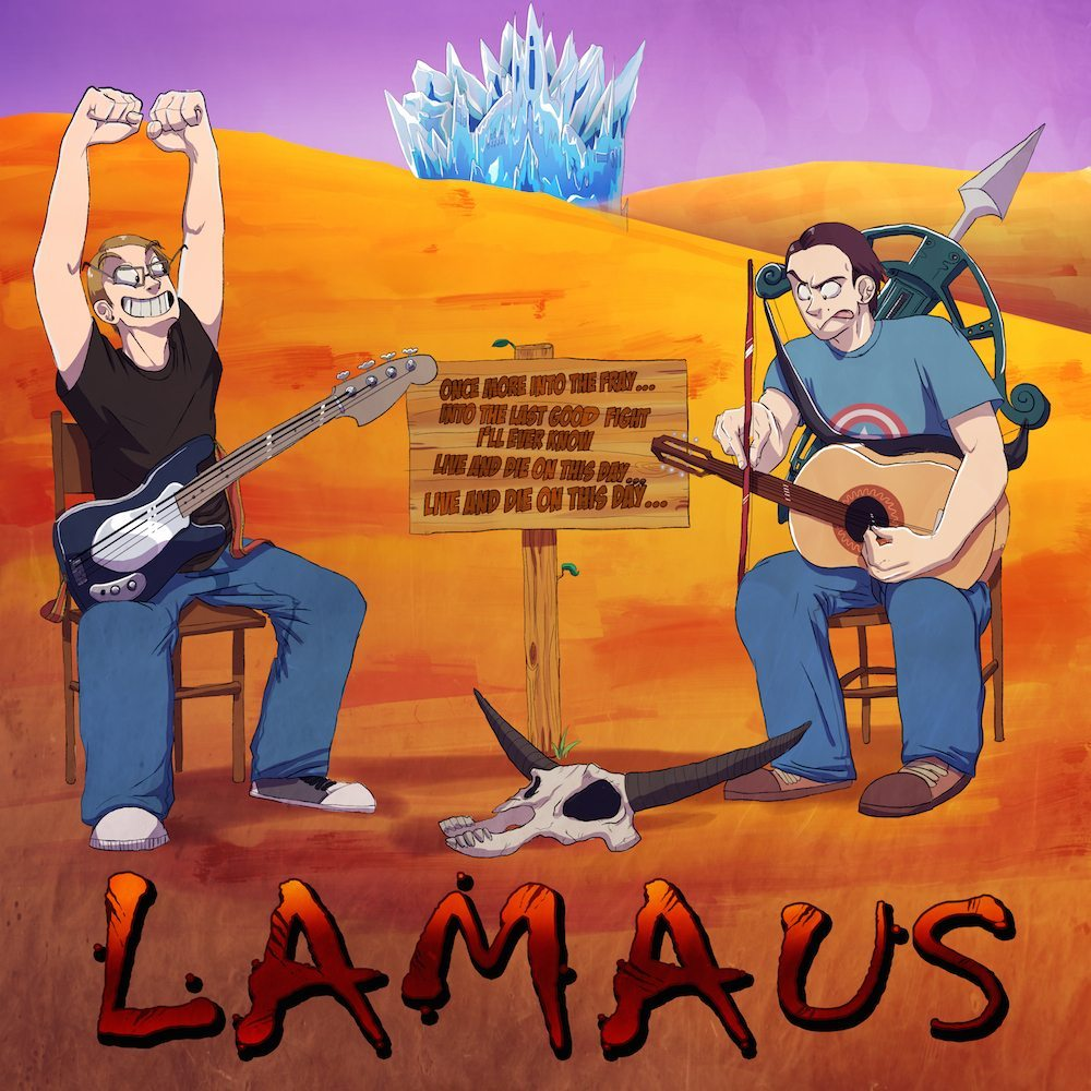 Lamaus Musical Duo Portrait by Denitsa Trandeva via ArtCorgi