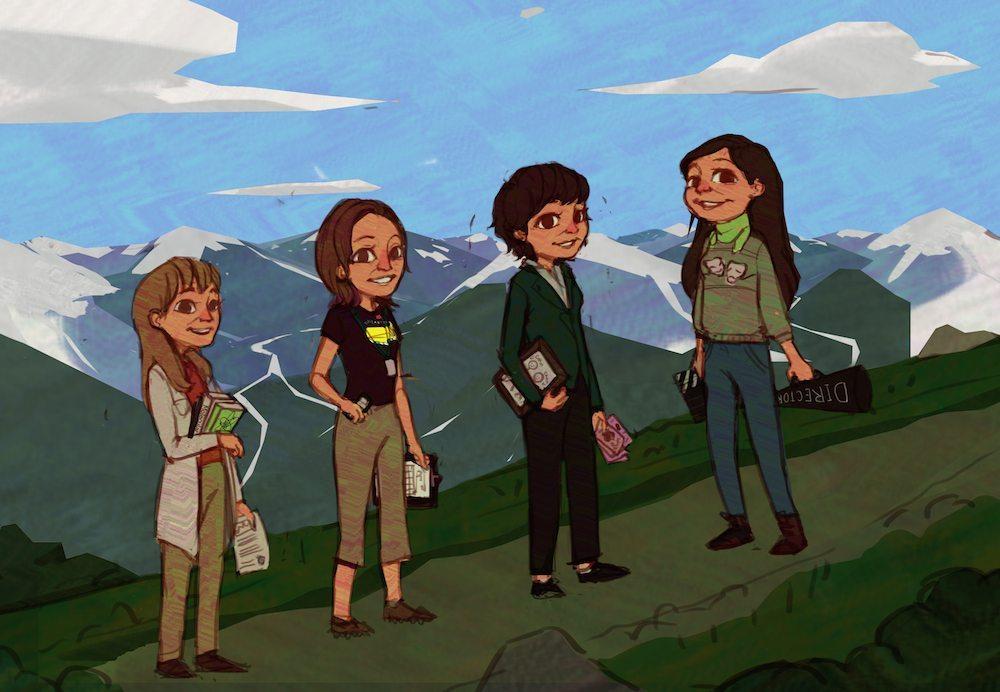 The Hiking Sisters by Mourphine via ArtCorgi