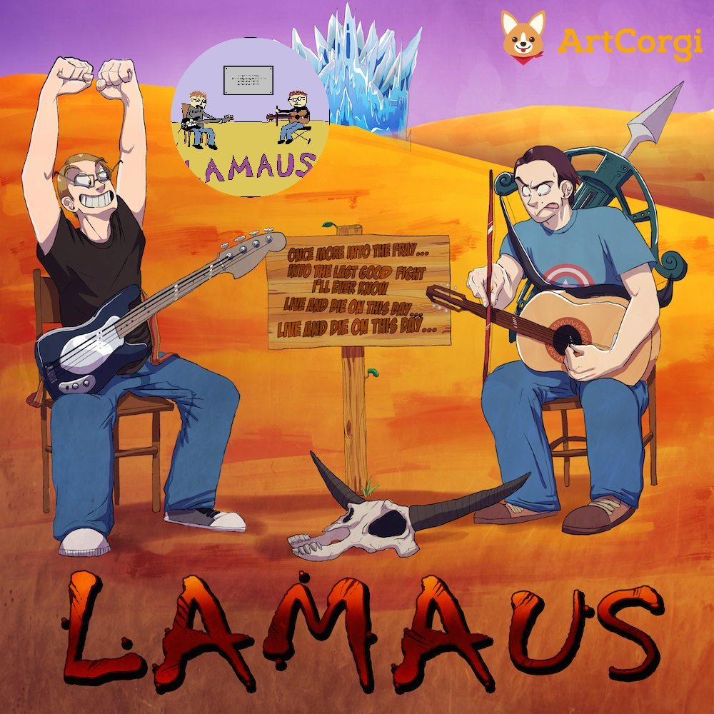 Lamaus Musical Duo Portrait Before and After by Denitsa Trandeva via ArtCorgi