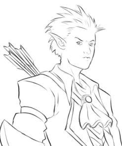 Archer Elf Sketch by Bob Kehl