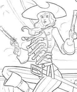 Pirate Woman Sketch by Bob Kehl