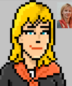 Pixel Portrait of Angela by ArtOfRam