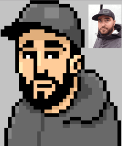 Pixel Portrait of Mike by ArtOfRam