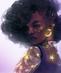 ArtCorgi - Express Illustrations by Nell Fallcard - Glowing woman