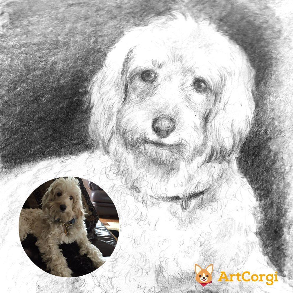 Pet Portrait of a Dog by Bloodyman88