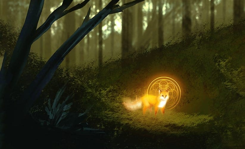 Magical Fox by Nell Fallcard