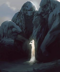 Woman and Stone Men by Nell Fallcard