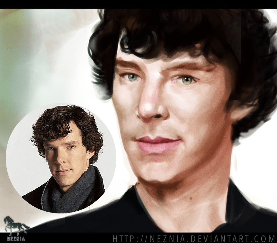 Rough Benedict Cumberbatch Painting by Ashes Graphics