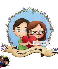 ArtCorgi - Romantic Valentines day couple Commission sample by Eli Coronel