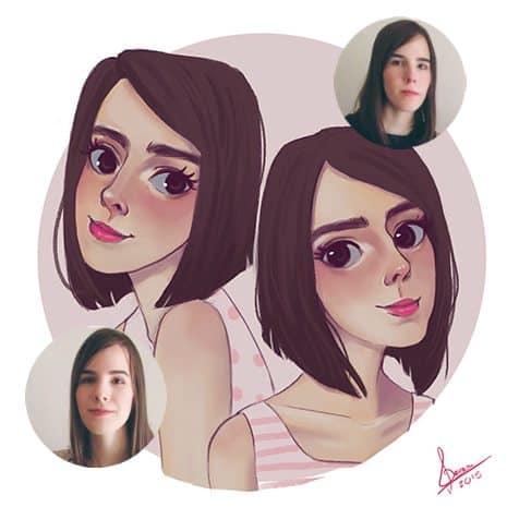 Cartoon Portrait Sample by Amaya Quiroz