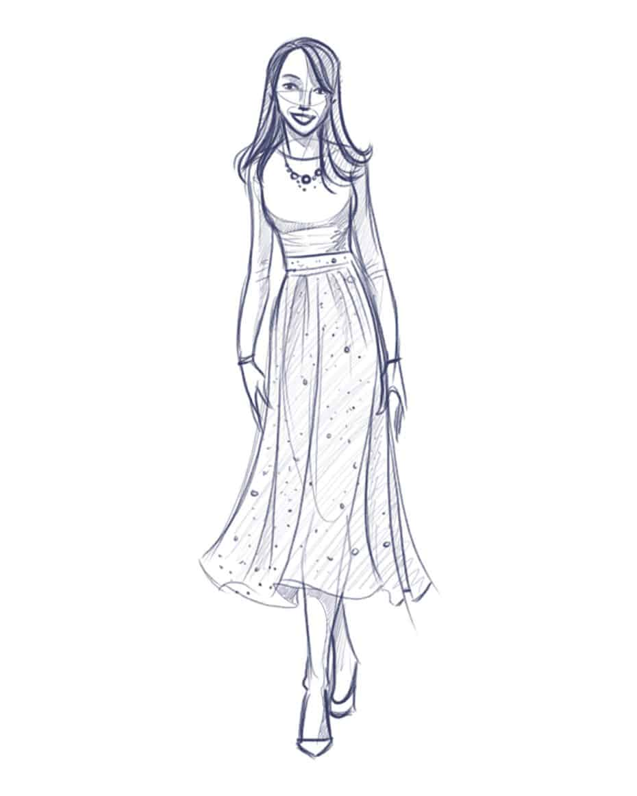 Fashion Sketch by Drew Graham