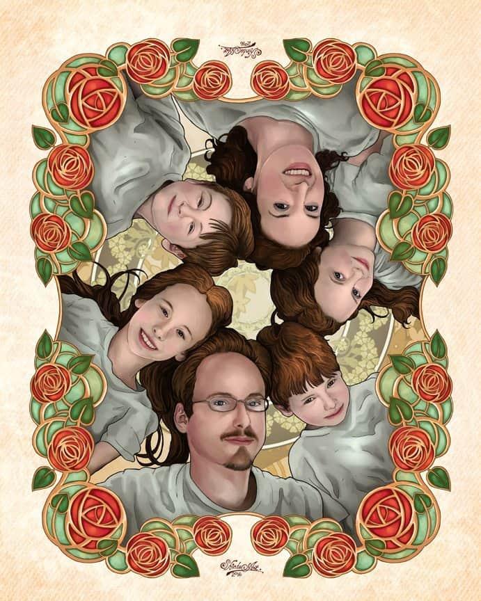 Family portrait Commission sample by Shintayu - ArtCorgi