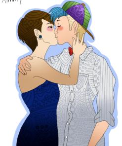 Patterned Couple Portrait by Keikii