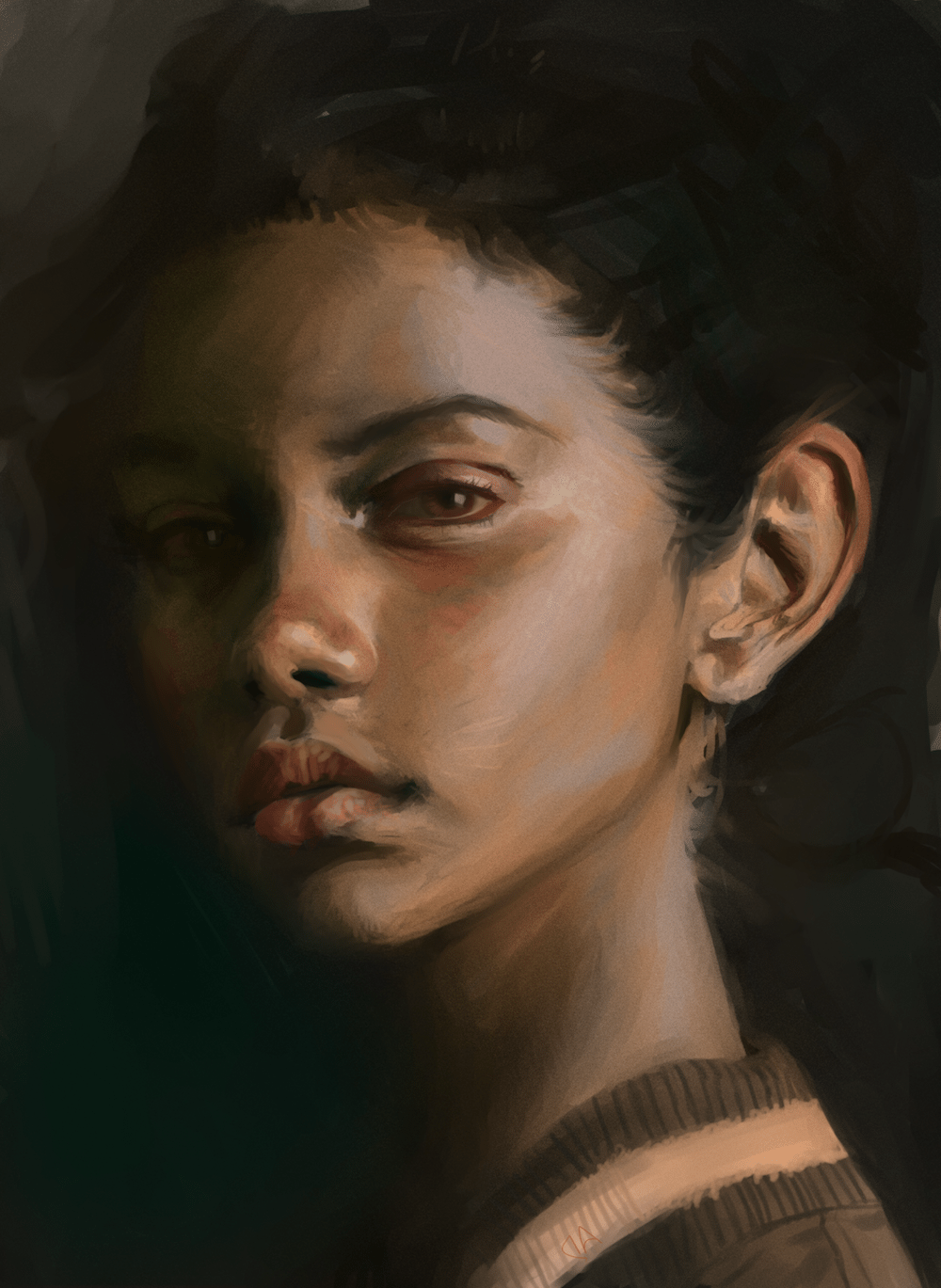 Realistic Portrait Sample by Nandhuco