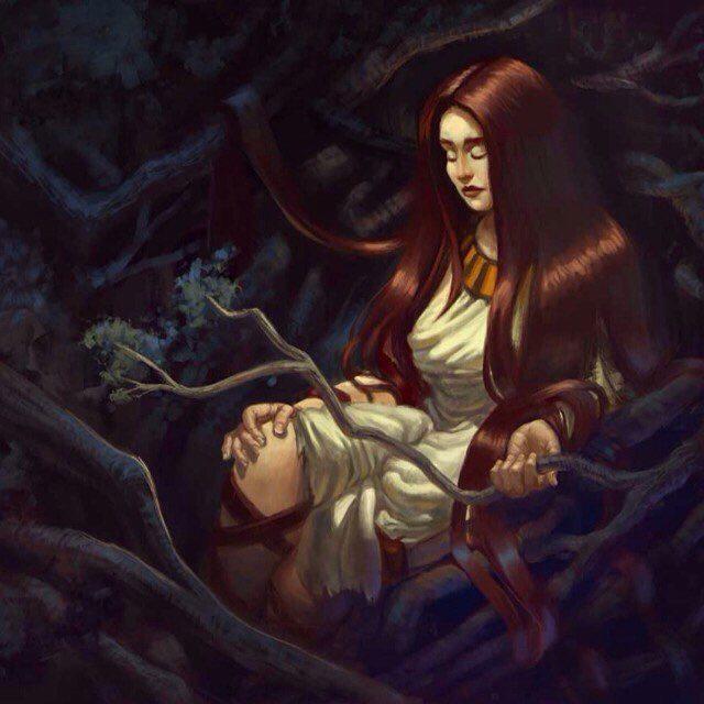 Fantasy illustration by Tamires Pará