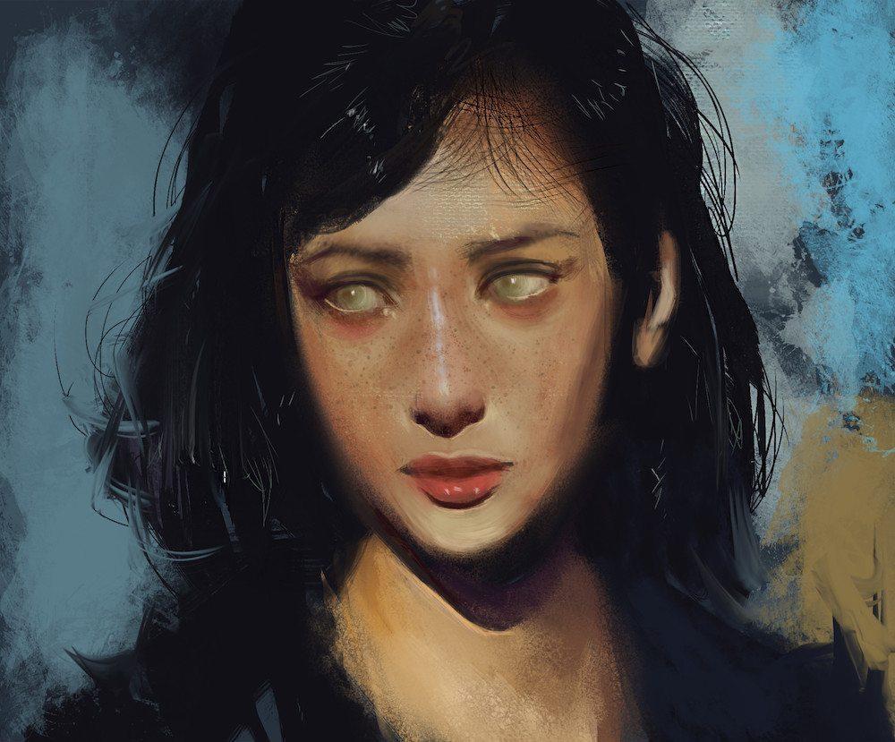 Color Portrait of a Woman by Bella Bergolts
