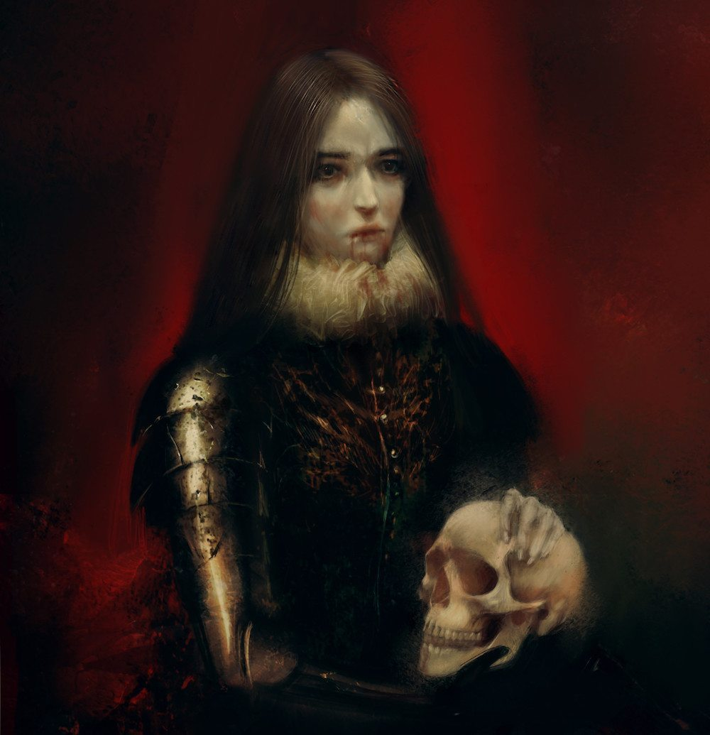 Fantasy Portrait of a Vampire Woman by Bella Bergolts