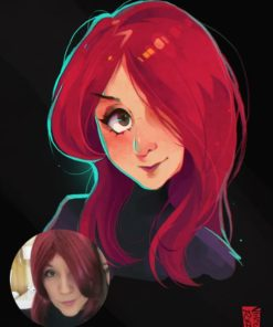 ArtCorgi - Vince Ruz - Stylized Pixar-Inspired Portrait of a woman 2