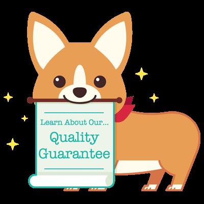 ArtCorgi Quality Guarantee corgi mascot