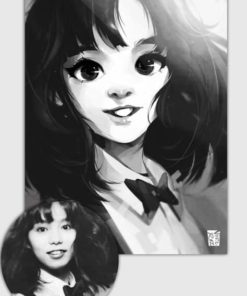 ArtCorgi - Vince Ruz - stylized black and white portrait