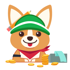 Financial expert Corgi - commission art online safely