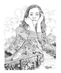 ArtCorgi - Nature fusion ink portraits by Shintayu