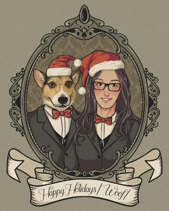 ArtCorgi_Commission_For_ Mya Eteer_by_kucingkecil_preview
