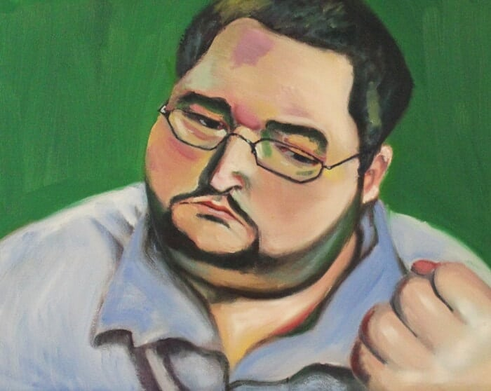 Boogie2988 DolphinTreasureArt Traditional portraits in oils - ArtCorgi commission sample
