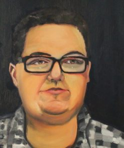 Muyskerm DolphinTreasureArt Traditional portraits in oils - ArtCorgi commission sample2