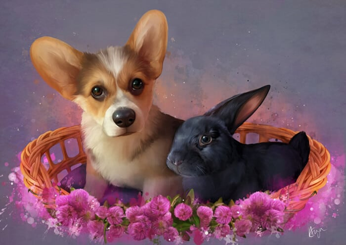 ArtCorgi - Cute Pet portrait commissions by MythicalPalette