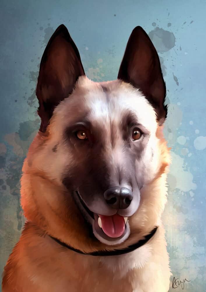 ArtCorgi - Painterly Pet portrait commissions by Aeryn