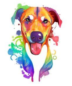 ArtCorgi - Rainbow Pet portrait commissions by Aeryn - Dog portraits
