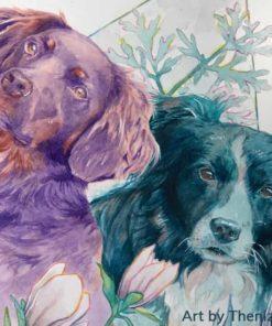 ArtCorgi pet portraits commission sample by Thenizu