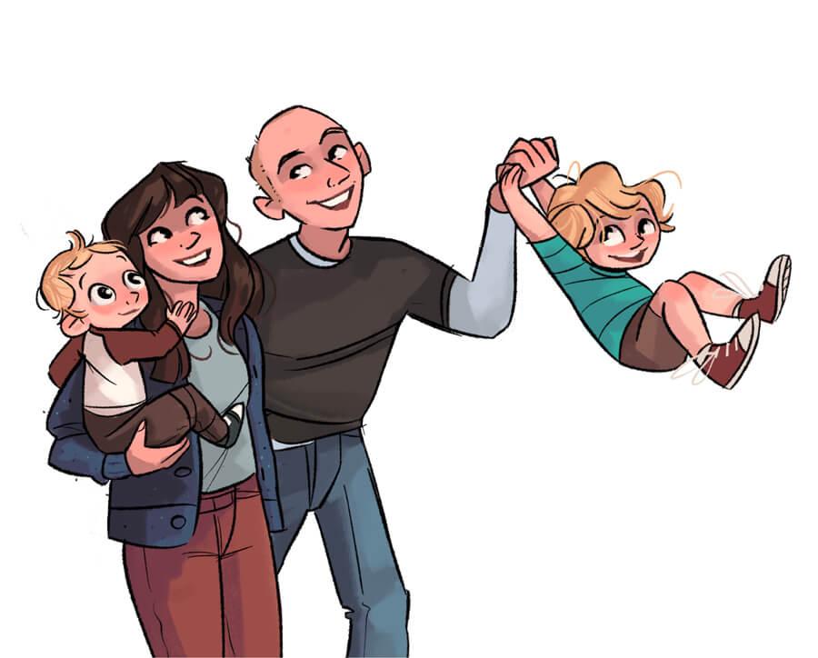 ArtCorgi - Family Portraits by Megan Crow