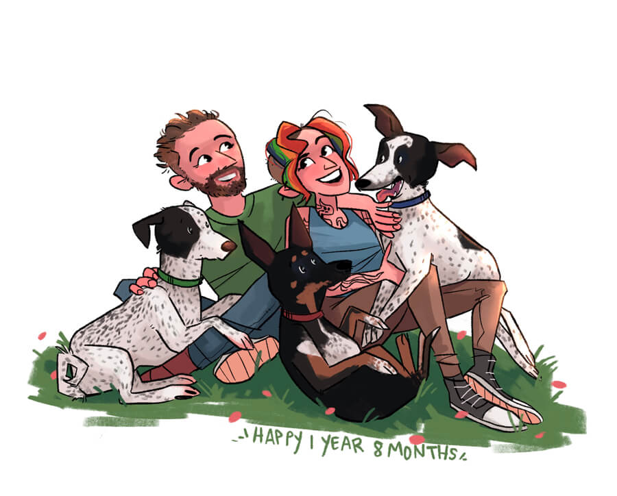 ArtCorgi - Family Portraits by Megan Crow